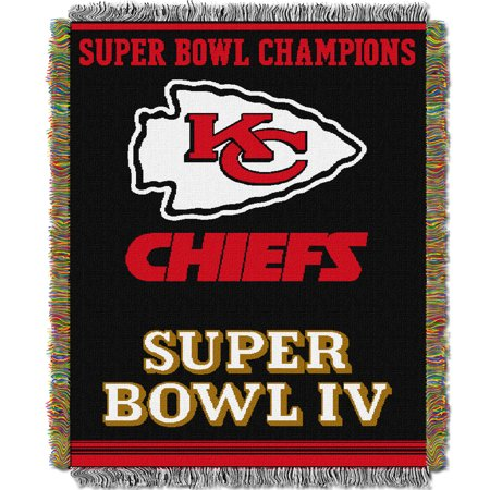 Kansas City Chiefs The Northwest Company 48'' x 60'' Commemorative Woven Tapestry Throw - No Size (Kansas City Chiefs Blanket Throw)