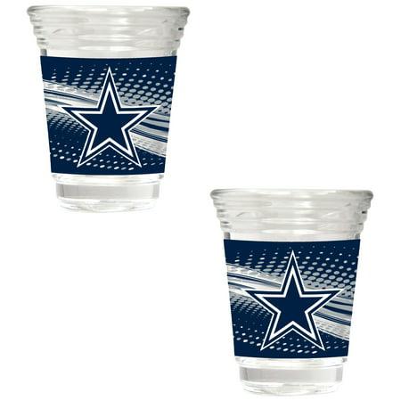 Dallas Cowboys 2-Piece 2oz. Party Shot Glass Set - No Size