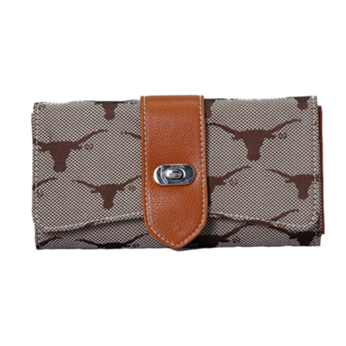 Texas Longhorns Jacquard Fabric Ladies Wallet