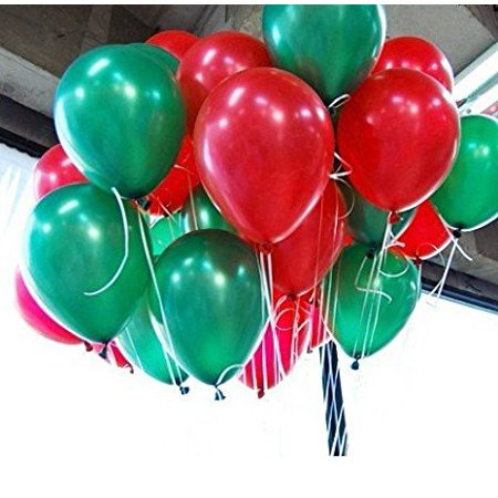 10 Inch Red Green Round Balloons For Party Decoration 100 Pcslot
