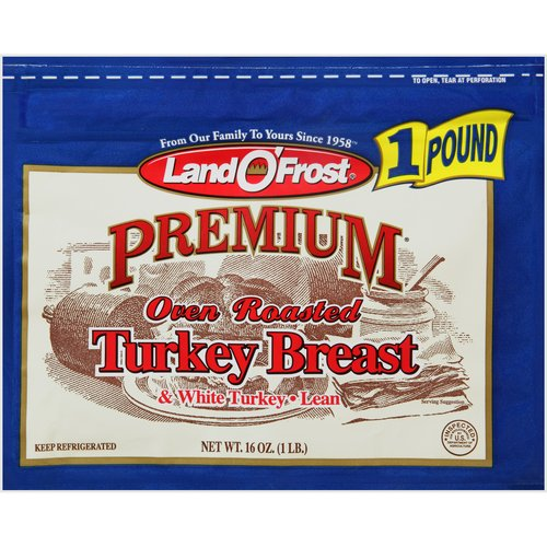 Land O'Frost Premium Oven Roasted Turkey Breast, 16 oz