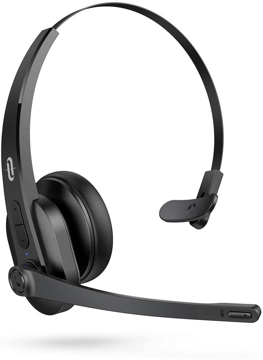 Taotronics Trucker Bluetooth Headset With Microphone Wireless Cell Phone Headset Noise Cancelling Mic On Ear Bluetooth Headphones Bluetooth 5 0 34h For Home Office Online Class Pc Call Center Skype Walmart Com