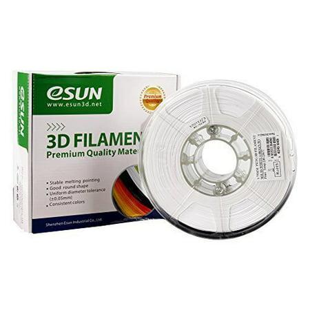 eSUN 3D 1.75mm PETG white Filament 1kg (2.2lb), PETG 3D Printer Filament, 1.75mm Solid Opaque white Opaque White Filament Reinforced