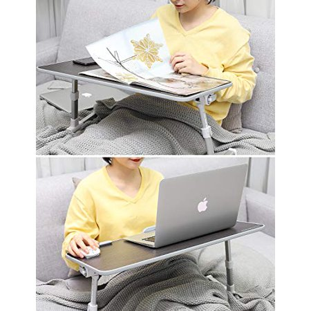 MoKo Laptop Bed Table,[Large Size] Adjustable Laptop Table, Portable Standing Desk Foldable Sofa Breakfast Tray - image 4 of 5