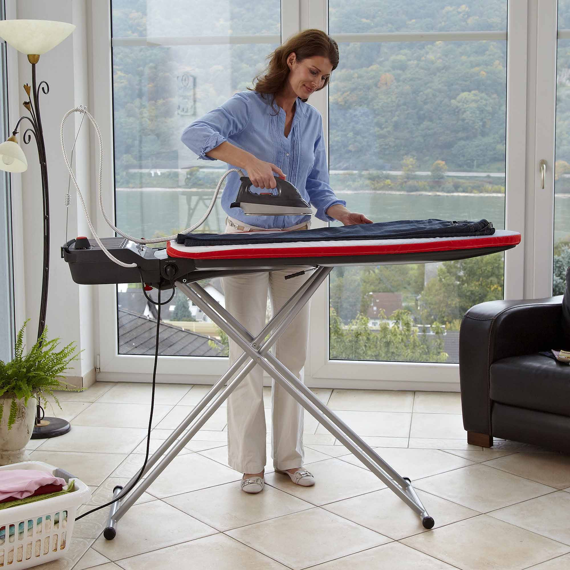 Fine Ironing Board Furniture Leifheit Airactive L Steamer System With Iron Throughout Decorating