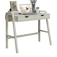 Desk with Two Drawer in White