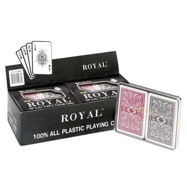 Royal Cave CHH 2093PB 6 Double Deck Large Index Pinochle