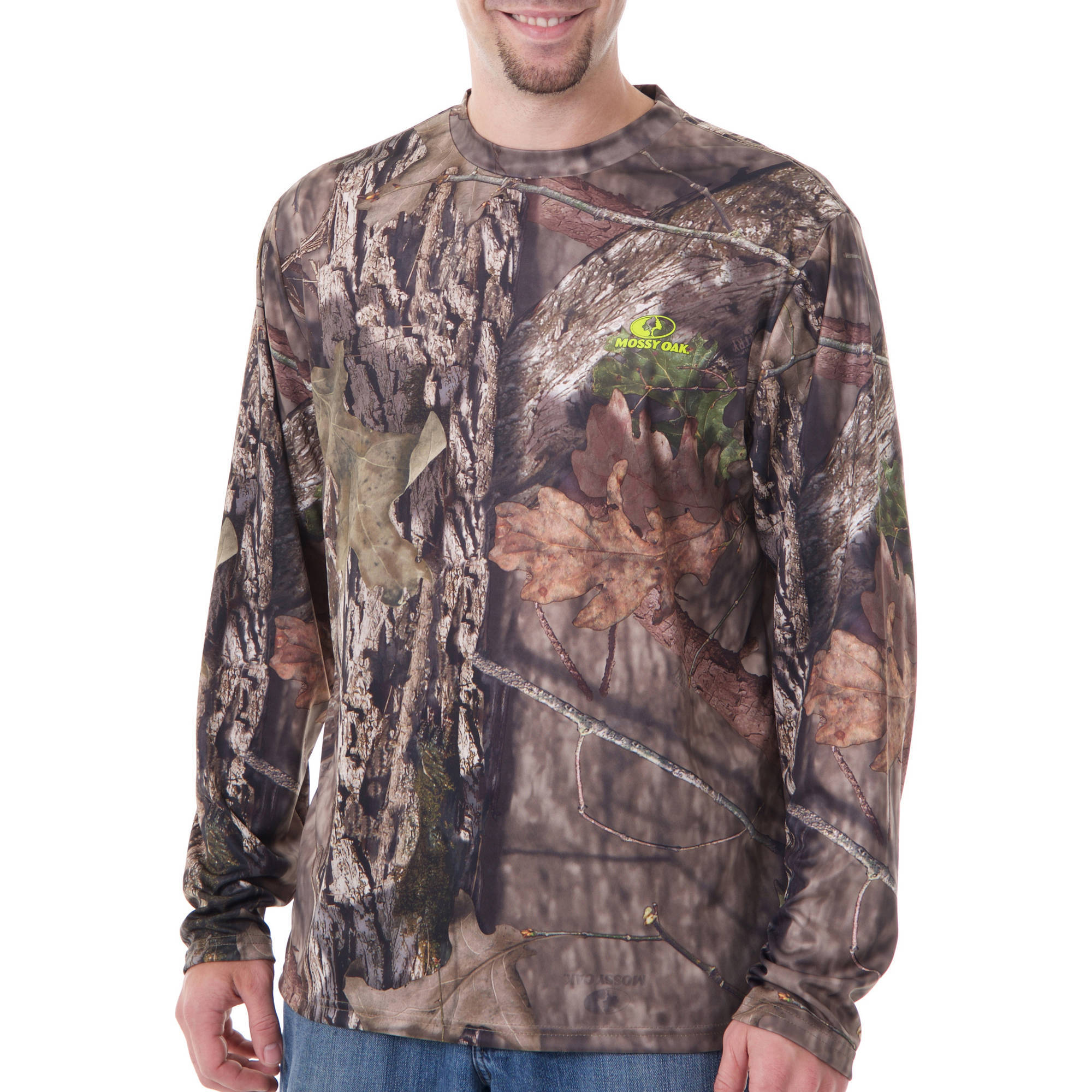 Realtree and Mossy Oak Men's Long Sleeve Camo Performance Tee