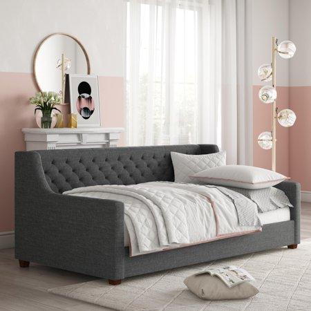 Jayden Upholstered Daybed Gray Linen - Room & Joy