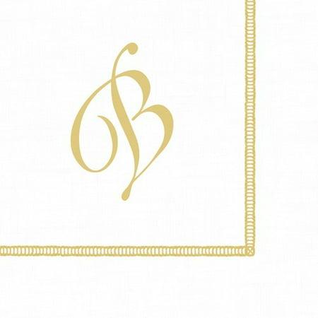 - Monogram Initial B Paper Cocktail Napkins 20pk