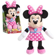 Disney Junior Mickey Mouse Singing Fun Minnie Mouse, 12-inch plush, Ages 3 +