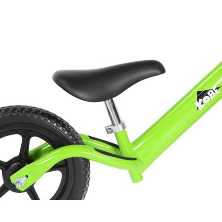 KOBE Steel Balance Running Bike - Lightweight No Pedals - Perfect Training Bike For Toddlers & Kids - Green - image 3 de 7
