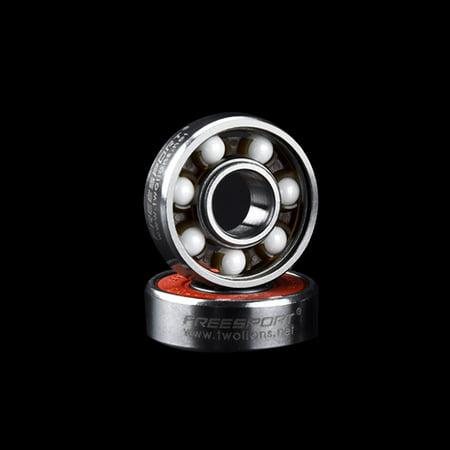 FREESPORT 1pcs 608 Generic Hybrid Ceramic Bearing Skateboard Roller Skating  Bearings with Ceramic Beads and Sealing Covers