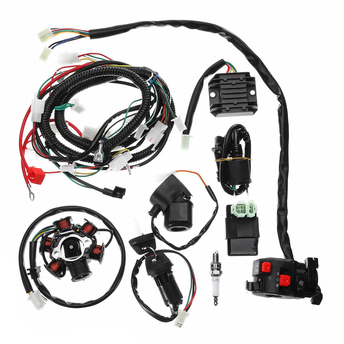 [WQZT_9871]  Full Electrics Wiring Harness Kit Loom CDI Coil For GY6 150CC ATV Quad Go  Kart Buggy - Walmart.com - Walmart.com | 150cc Atv Wiring |  | Walmart