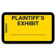 Tabbies, TAB58094, Plaintiff's Exhibit Legal File Labels, 252 / Pack, Yellow