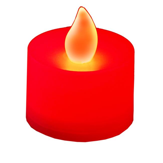 JH Specialties 80312 LED Battery Operated Tea Lights- Red 12 Ct by JH Specialties Inc.