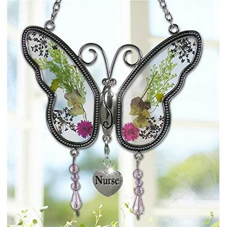 Terrier Suncatcher (Nurse Butterfly Suncatcher - Pressed Flower Wings - Gifts for Nurses - Nurse Practitioners - Nurse Gifts - Nurse Graduation Gifts )