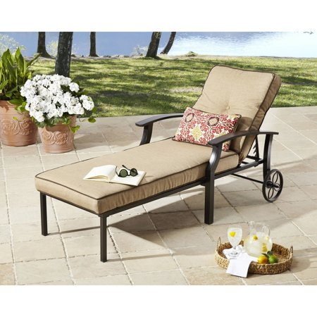 Better homes and gardens carter hills chaise lounge for Better homes and gardens hillcrest outdoor chaise lounge