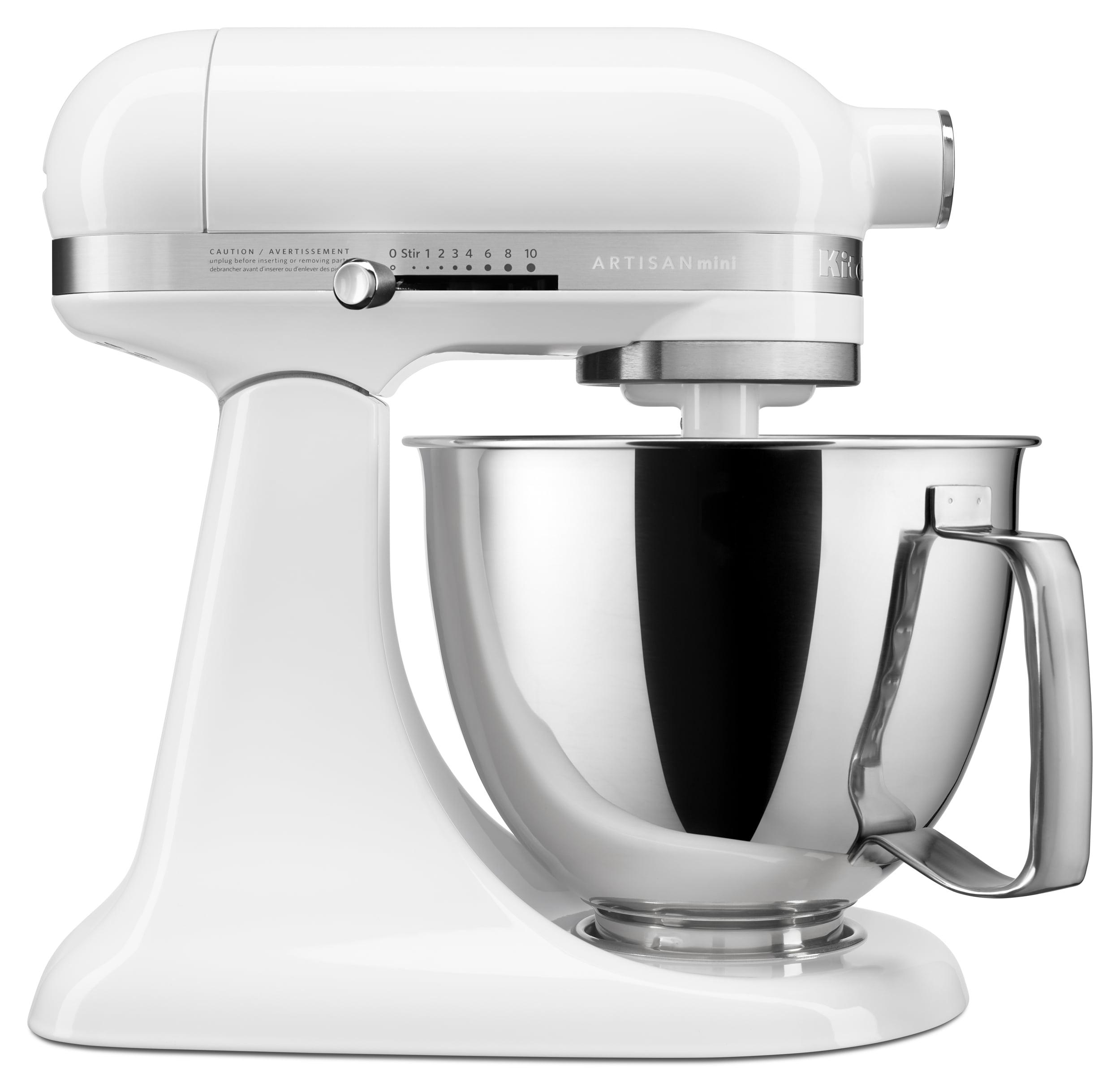 KitchenAid Artisan Mini 3.5 Quart Tilt-Head Stand Mixer, White (KSM3316XWH)