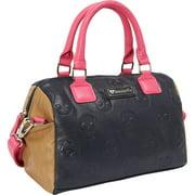 Loungefly Skull Embossed Shoulder Bag Satchel Colorblock Black Tan Pink