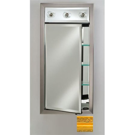 - Afina Corporation SD-LC1740RCHAGD 17x40 Contemporary Integral Lighted Single Door - Chateau Gold
