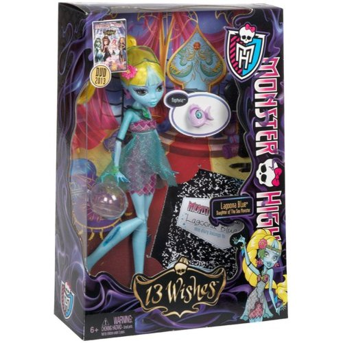 Monster High 13 Wishes Lagoona Blue Doll by Mattel