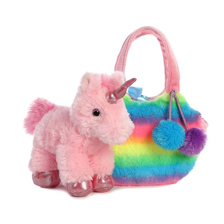 Rainbow UnicornFancy Pal - Stuffed Animal by Aurora Plush (32812) ()