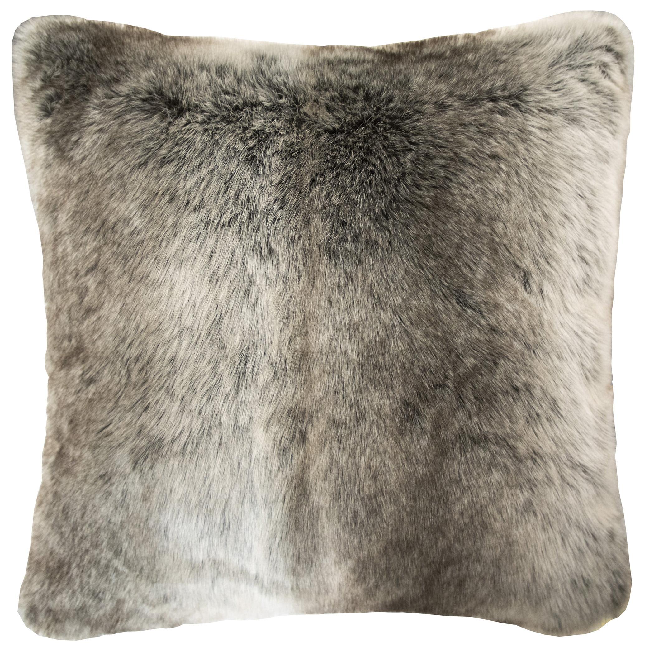 Better Homes Gardens Ombre Fur Decorative Pillow 20 X 20 Brown Walmart Com Walmart Com