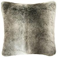 Better Homes & Gardens,Ombre Fur Pillow, 20X20, Brown