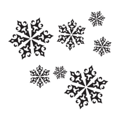 Style and Apply Christmas Ice Crystals Wall Decal