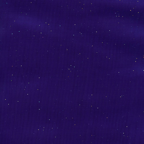 Party Time Organdy Stars Fabric, Purple