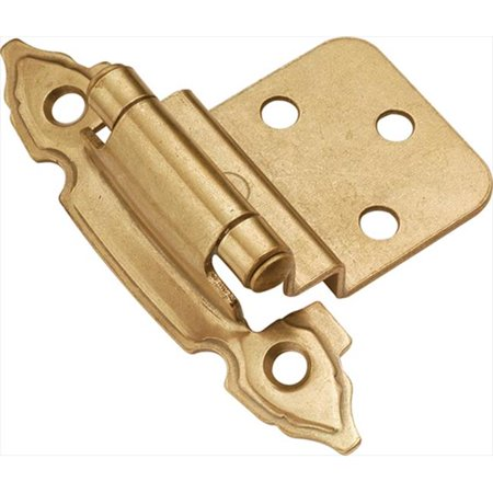 Hickory Hardware P297-LP Lancaster Hand Polished Surface Self-Closing 0.37 In. Offset Hinge 2-Pack