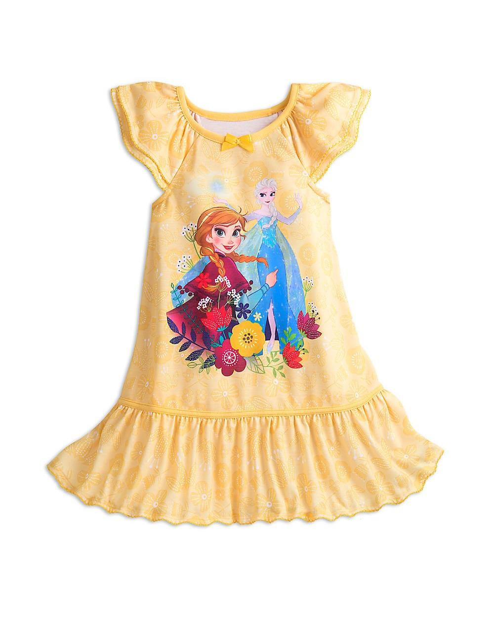 Disney Frozen Nightshirt for Girls Yellow, Yellow, Size: 7-8