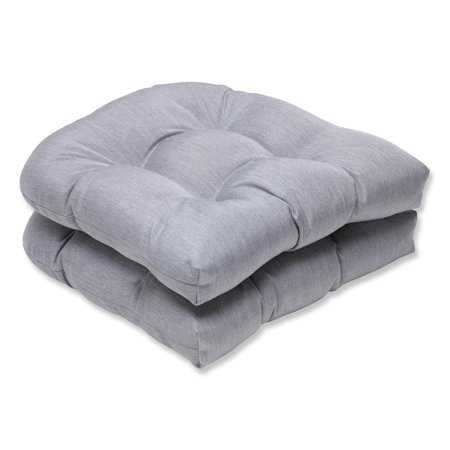 Set Of 2 Sunbrella Gray Outdoor Patio Wicker Seat Cushions 19 Walmart