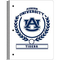 "C.R. Gibson 1-Subject Spiral Notebook, College Ruled, Includes 70 Sheets, Measures 8"" x 10.5"" - Auburn Tigers White"