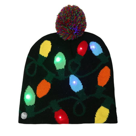 A Christmas Story Hat (Coolmade LED Light up Hat Knitted Ugly Sweater Holiday Xmas Christmas Beanies Colorful Lights Flashing Hat Knit)