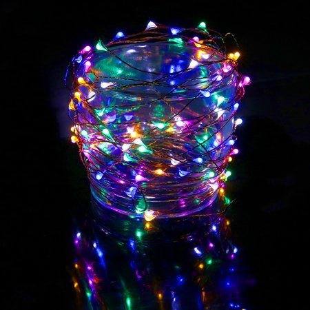 hde waterproof led string lights flexible copper wire indoor