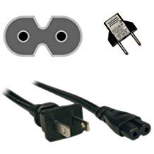 HQRP AC Power Cord for Sonos SUB Wireless Subwoofer Mains Cable HQRP Euro Plug (Stub Cord)