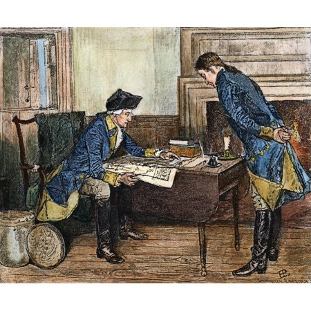 Hale & Washington In Nyc Nnathan Hale Receiving Instructions From George Washington In New York City For His Intelligence Mission Behind The British Lines September 1776 Wood Engraving 1880 After Howa](Mission Nyc Halloween)