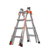 Little Giant LT M17 Aluminum Type 1A, 300 lbs rated, Articulating Ladder with Tip & Glide Wheels
