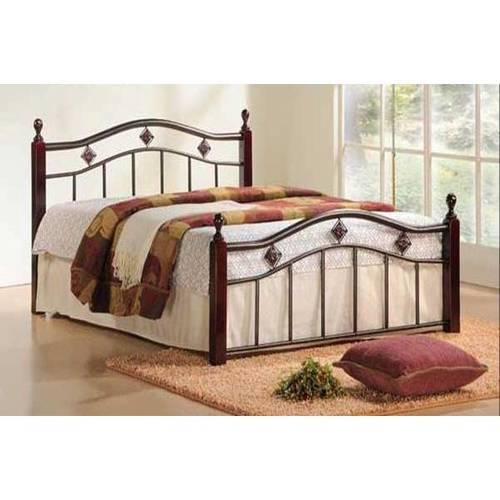 Scottsdale Complete Bed With Metal Duo Panels And Dark