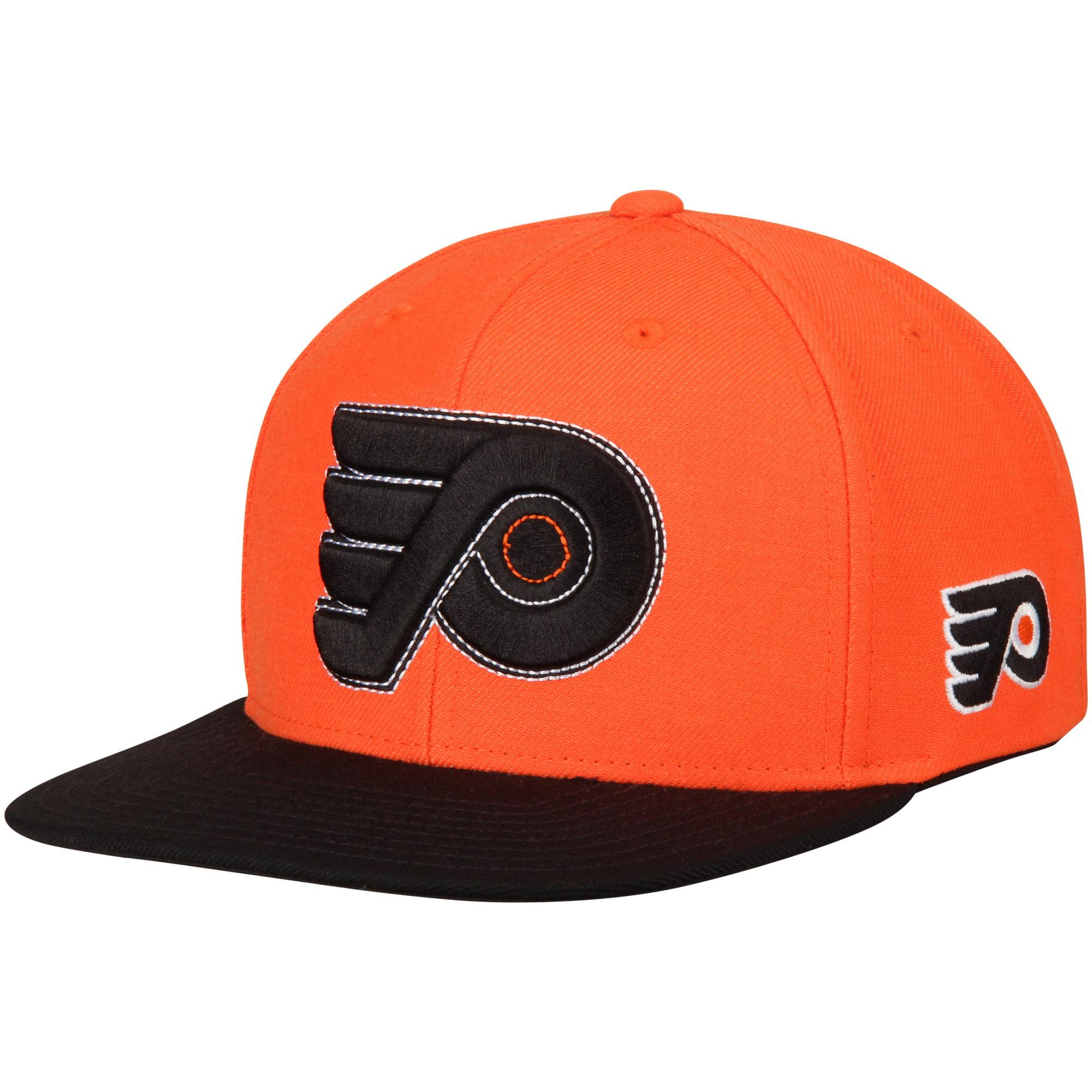 Philadelphia Flyers Reebok Two-Tone Adjustable Snapback Hat - Orange/Black - OSFA