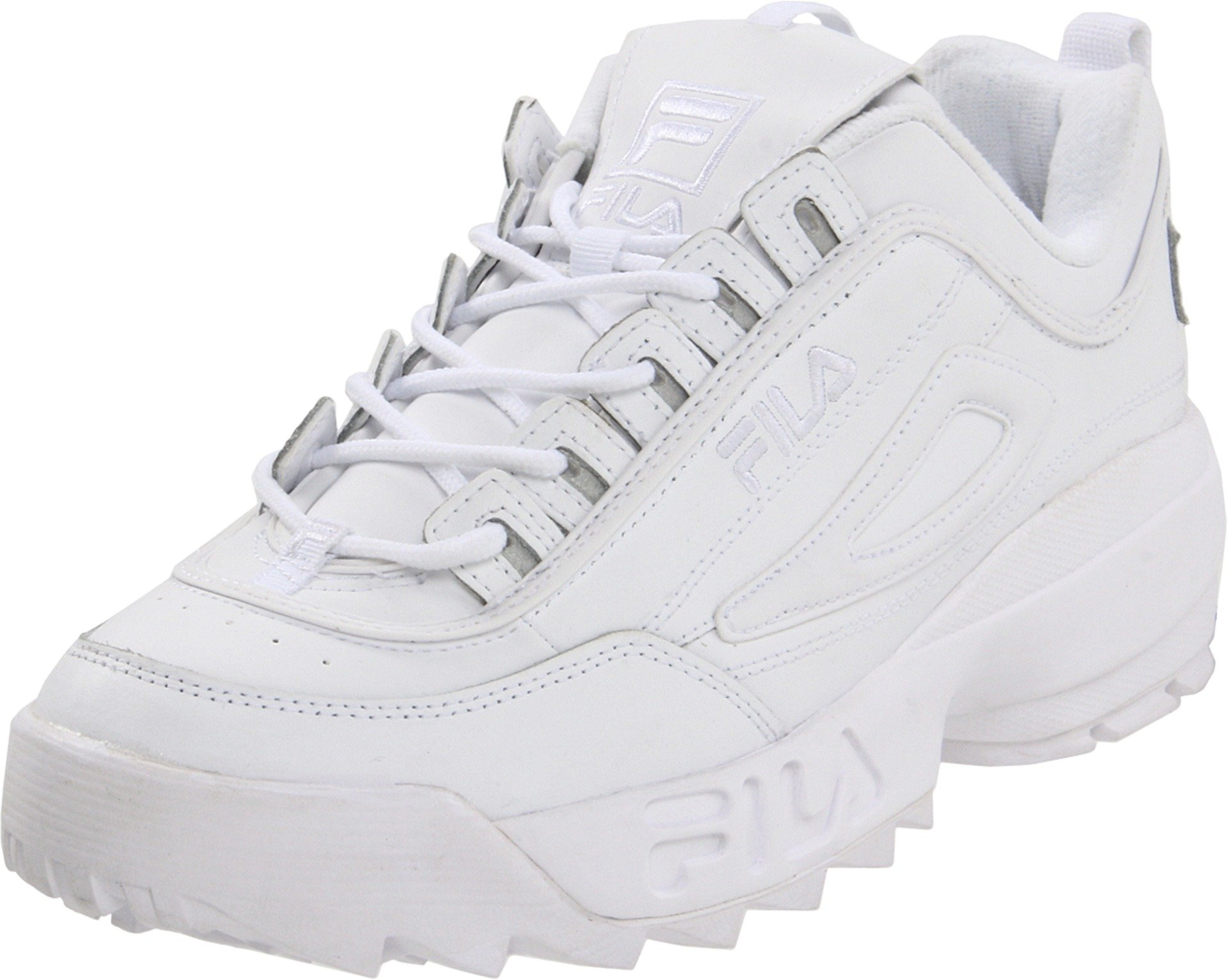 Fila Fila FW04495 FW01655 FW01653 Men's Classic Disruptor II Sneakers All Colors (7 D(M) US Men, Triple White)