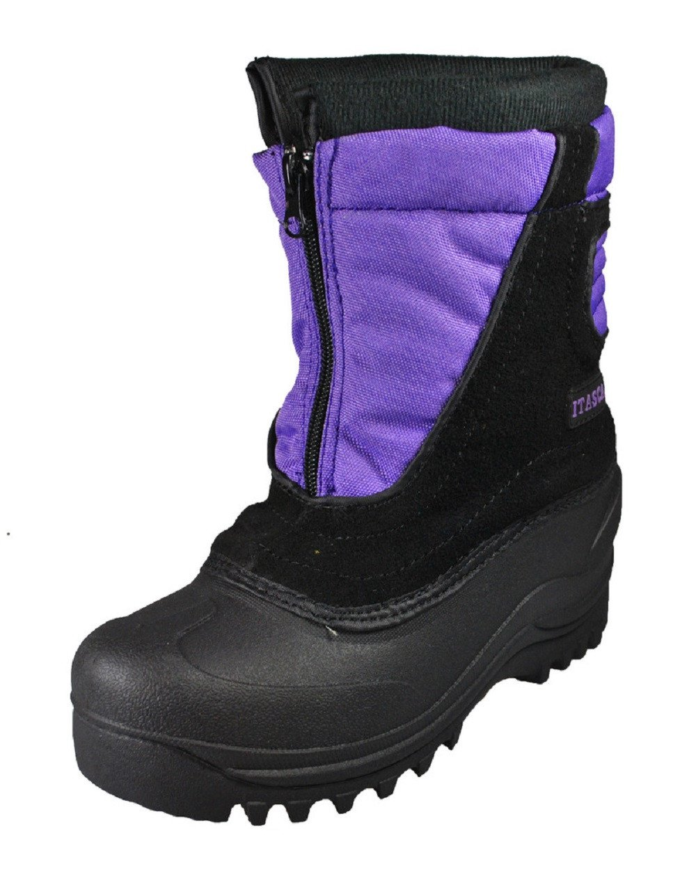 Itasca Girls cerebus Mid-Calf Pull On Snow Boots, Purple, Size 7