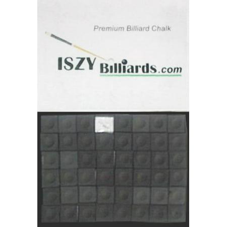 Premium Billiard Stick - Pool Cue Chalk Black Quantity 12 Pieces