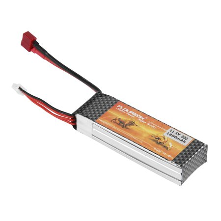 FLOUREON Lipo Battery for RC Helicopter Airplane Deans Plug 11.1V 1800mAh 30C