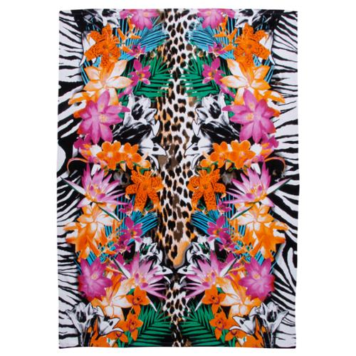 Kaufman Tropical Animal Print Extra Wide Beach Towel