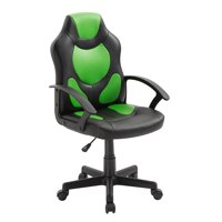 Techni Mobili Kid's Gaming and Racing Chair with Wheels, Green