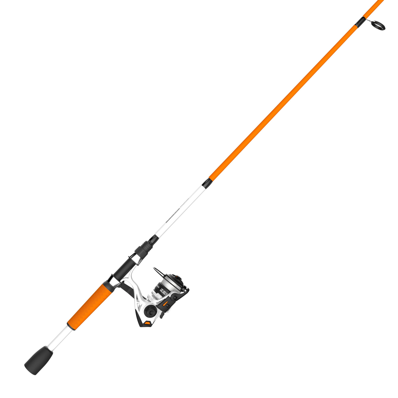 Zebco Roam Orange Spincast Reel and 2-Piece Fishing Rod Combo ComfortGrip Rod...