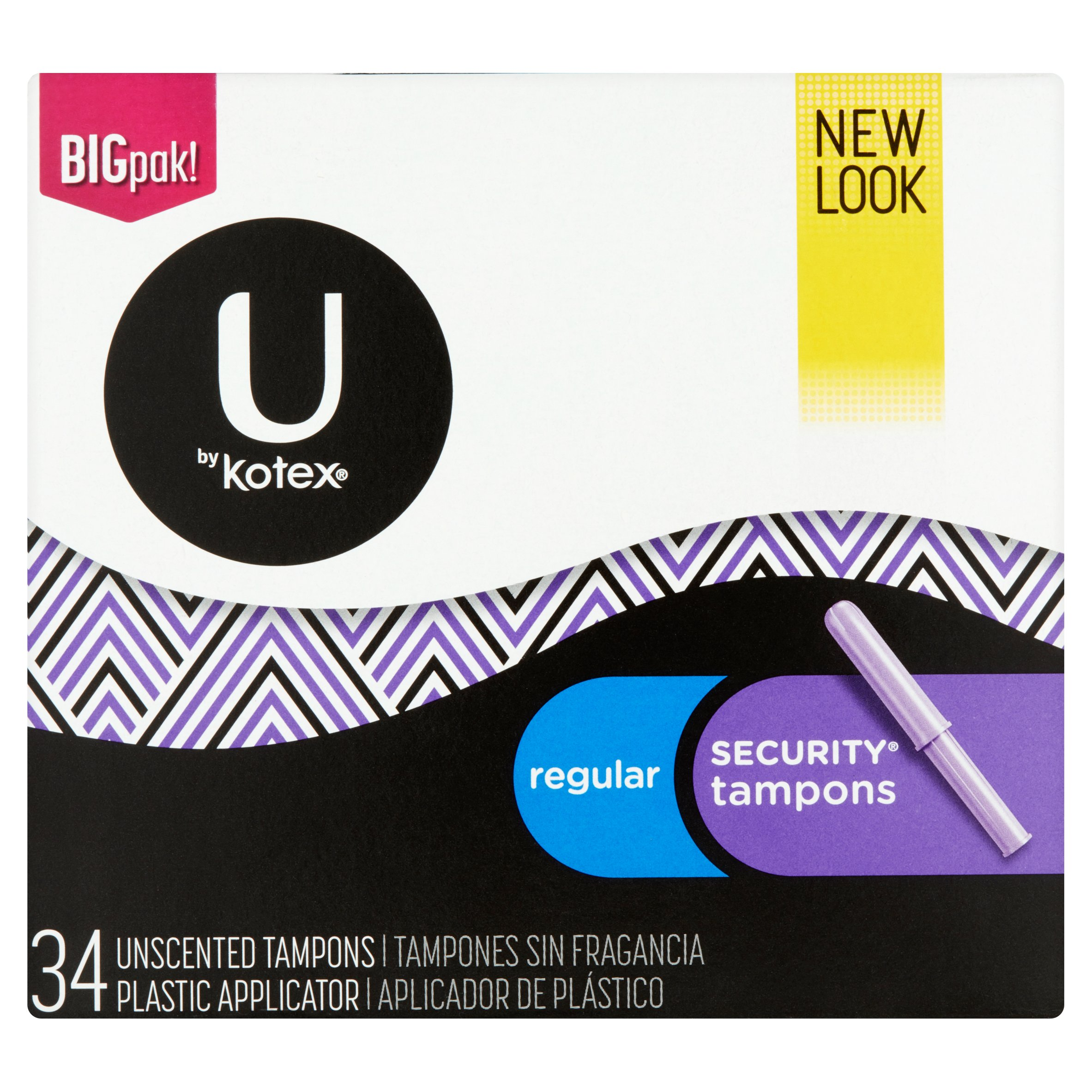 U by Kotex Security Tampons, Regular Absorbency, Unscented 34 ct